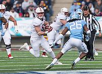 El Paso, TX - December 30, 2016: The 2016 Sun Bowl. The Stanford Cardinal vs the North Carolina Tar Heels at Sun Bowl Stadium. Final score, Stanford Cardinal 25, North Carolina Tar Heels 23.