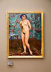 'Female Nude' 1912 oil painting on canvas by Jean Heiberg (1884-1976) Kode 3 art gallery Bergen, Norway
