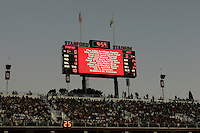 16 September 2006: Donors to the stadium are recognized on the south scoreboard during Stanford's 37-9 loss to Navy during the grand opening of the new Stanford Stadium in Stanford, CA.