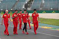 11th March 2020; Albert Park, Melbourne, Australia; Formula 1 Australia Grand Prix, setup day; Scuderia Ferrari, Charles Leclerc walks the track