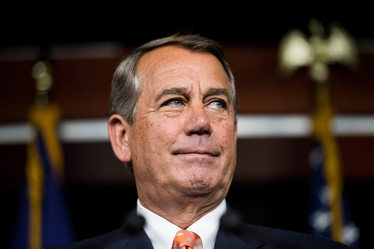 UNITED STATES - JULY 16: Speaker of the House John Boehner, R-Ohio, holds his weekly on camera media availability in the Capitol on Thursday, July 16, 2015. (Photo By Bill Clark/CQ Roll Call)