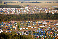 Helicopter-photage of subcamps spring and Autumn. Photo: Kim Rask/Scouterna