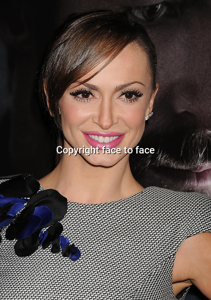 BEVERLY HILLS, CA- SEPTEMBER 12: TV personality Karina Smirnoff arrives at the 'Prisoners' - Los Angeles Premiere at the Academy of Motion Picture Arts and Sciences on September 12, 2013 in Beverly Hills, California.<br />
