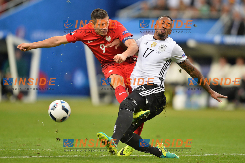Robert Lewandowski (pol) - Jerome Boateng (ger) <br /> Paris 16-06-2016 Stade de France Football Euro2016 Germany - Poland / Germania - Polonia Group Stage Group C. Foto Anthony Bibard / Panoramic / Insidefoto