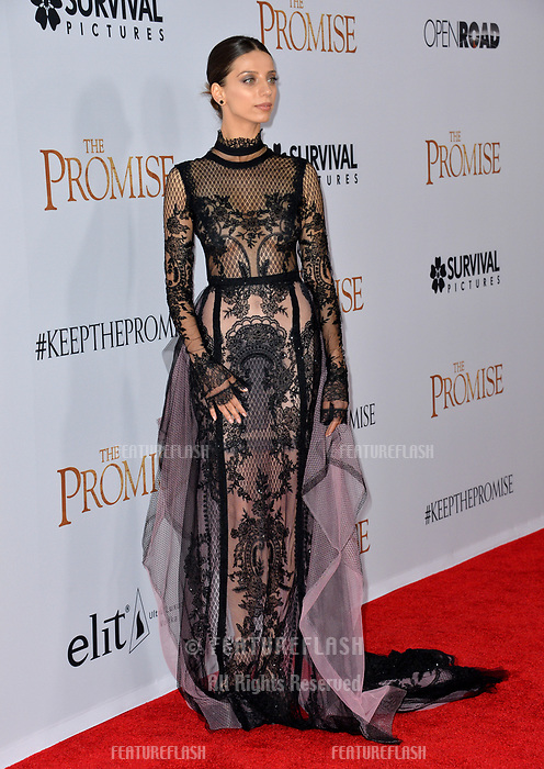 Angela Sarafyn at the premiere for &quot;The Promise&quot; at the TCL Chinese Theatre, Hollywood. Los Angeles, USA 12 April  2017<br /> Picture: Paul Smith/Featureflash/SilverHub 0208 004 5359 sales@silverhubmedia.com