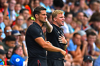 AFC Bournemouth Manager Eddie Howe right shouts instructions during AFC Bournemouth vs Real Betis, Friendly Match Football at the Vitality Stadium on 3rd August 2018