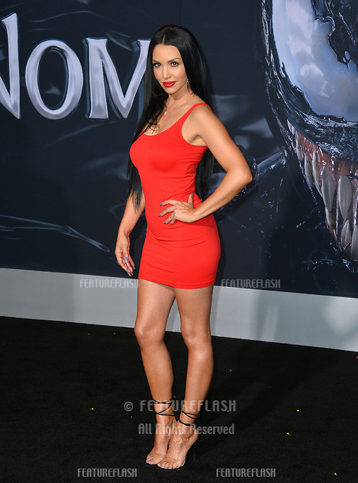 LOS ANGELES, CA. October 01, 2018: Scheana Shay at the world premiere for &quot;Venom&quot; at the Regency Village Theatre.<br /> Picture: Paul Smith/Featureflash