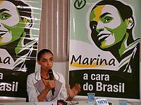 A ex-senador Marina Silva durante campanha como candidata à Presidência da República pelo Partido Verde.<br /> Rio Branco, Acre, Brasil.<br /> Foto Altino Machado<br />  2010