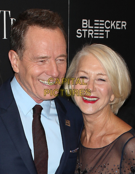 NEW YORK, NY - NOVEMBER 3: Bryan Cranston and Helen Mirren at the special Bleecker Street screening of Trumbo at the MoMA TiTUS 2 in New York City  on November 3, 2015. <br /> CAP/MPI99<br /> &copy;MPI99/Capital Pictures