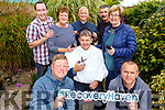 Launching the Recovery Haven Movember fundraiser at the centre on Tuesday. Kneeling l-r, Jamie Blake and Brian McCannon.<br /> On the chair Junior Locke  with Philomena Stack and Maureen O&rsquo;Brien.<br /> Back l-r, Michael Smith, Anthony Clifford and James Kelly.