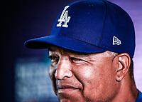 Dave Roberts en conferencia de prensa, previo al partido de beisbol de Dodgers de Los Angeles contra Padres de San Diego, tercer juego de la Serie en Mexico de las Ligas Mayores del Beisbol, realizado en el estadio de los Sultanes de Monterrey, Mexico el domingo 6 de Mayo 2018.<br /> (Photo: Luis Gutierrez)