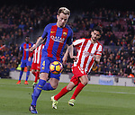 01.03.2017 Barcelona.La Liga game 25. Picture show Rakitic in action between FC Barcelona v Sporting at Camp Nou