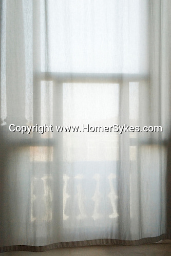 Window light looking out into Venice Italy