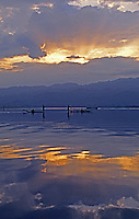 Sunrise over Inle Lake Myanmar - Images from the Book Journey Through Colour and Time