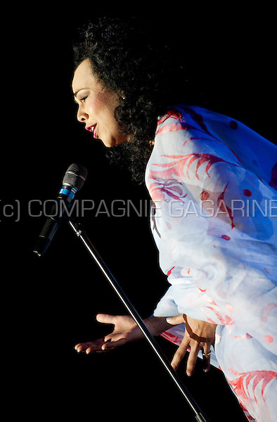 Opera singer Isabelle Kabatu at the Haiti Lavi 12-12 benefit concert in the Bozar, Brussels (Belgium, 15/02/2010)