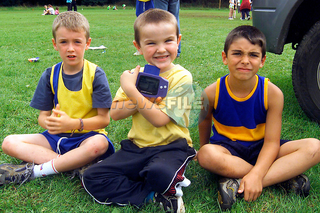 Andrew Sansom, Ryan Traynor and Darius Maherths at the Ferdia Athletics Club sports day in Ardee..Picture: Paul Mohan/Newsfile