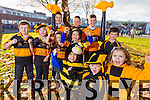 Austin Stacks football fans at CBS primary school are looking forward to the Munster final against the Nire in Cork on Sunday are from left: Brandon Healy, Michael Carey, Elliot Lynch, Amy Scanlon, Joshua Lynch, Aisling O'Connell, Greg Scanlon and Cormac Bastible. In foreground are from left: Aoife O'Connell, Rian Duffy and Millie Lynch.