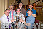 Terence and Owen Casey present the Michael Casey Perpetual Cup to Mike O'Connor, captain of the Spillane Seafoods sponsored team, winners in the recent Killarney Salmon and Trout angling club competition. Also pictured are Tommy Ankettell, Jimmy Sweetman and Garry Fleming.   Copyright Kerry's Eye 2008