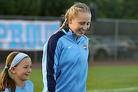 Piscataway, NJ - Saturday Aug. 27, 2016: Leah Galton prior to a regular season National Women's Soccer League (NWSL) match between Sky Blue FC and the Chicago Red Stars at Yurcak Field.