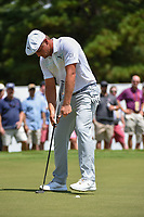 Bryson DeChambeau (USA) sinks his par putt on 3 during round 2 of the 2019 Tour Championship, East Lake Golf Course, Atlanta, Georgia, USA. 8/23/2019.<br /> Picture Ken Murray / Golffile.ie<br /> <br /> All photo usage must carry mandatory copyright credit (© Golffile | Ken Murray)