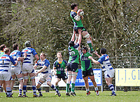 Saturday 27th April 2013 - Jonny Madden takes this lineout during the final Ulster Bank League clash against Dungannon at Stevenson Park. Photo Credit : John Dickson / DICKSONDIGITAL