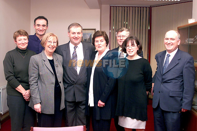 Joe Delaney at his retirement party in the Garda station with his wife Mary, Judith Leech, Peter Gaffey, Carmel Freeman, Sean Freeman, Mairead Tobin and Paul Murphy..Picture Paul Mohan Newsfile