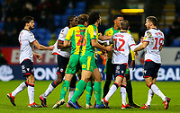 Tempers fray on the field<br /> <br /> Photographer Alex Dodd/CameraSport<br /> <br /> The EFL Sky Bet Championship - Bolton Wanderers v West Bromwich Albion - Monday 21st January 2019 - University of Bolton Stadium - Bolton<br /> <br /> World Copyright © 2019 CameraSport. All rights reserved. 43 Linden Ave. Countesthorpe. Leicester. England. LE8 5PG - Tel: +44 (0) 116 277 4147 - admin@camerasport.com - www.camerasport.com