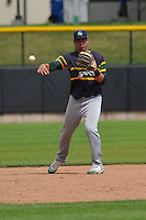 Beloit Snappers Edwin Diaz (12) throws during the Midwest League game against the Clinton LumberKings at Ashford University Field on June 12, 2016 in Clinton, Iowa.  The LumberKings won 1-0.  (Dennis Hubbard/Four Seam Images)