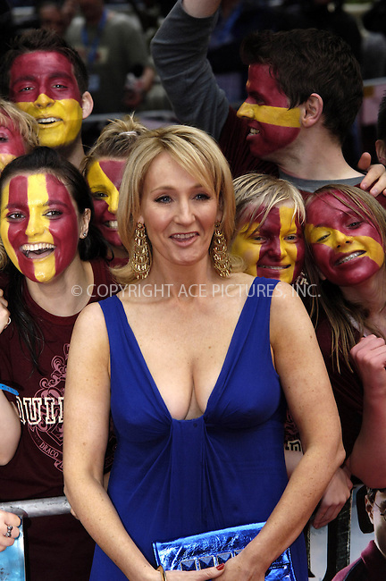 "WWW.ACEPIXS.COM . . . . .  ..... . . . . US SALES ONLY . . . . .....July 7 2009, London....JK Rowling at the World Premiere of ""Harry Potter And The Half-Blood Prince"" held at the Empire Leicester Square on July 7 2009 in London....Please byline: FAMOUS-ACE PICTURES... . . . .  ....Ace Pictures, Inc:  ..tel: (212) 243 8787 or (646) 769 0430..e-mail: info@acepixs.com..web: http://www.acepixs.com"