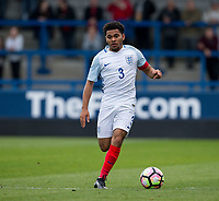 Jay Dasilva (Charlton Athletic (on loan from Chelsea) of England U20 during the International friendly match between England U20 and Netherlands U20 at New Bucks Head, Telford, England on 31 August 2017. Photo by Andy Rowland.