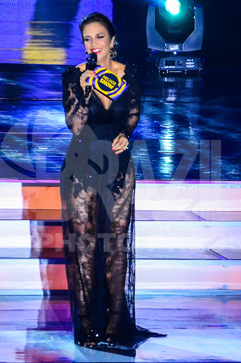 ATENCAO EDITOR: FOTO EMBARGADA PARA VEICULOS INTERNACIONAIS. - RIO DE JANEIRO, RJ,19 DE SETEMBRO 2012 - PREMIO MULTISHOW 2012- Ivete Sangalo apresenta a cerimonia de entrega do Premio Multishow na noite desta terca dia 18 de setembro, no HSBC Arena, na Barra da Tijuca, zona oestedo Rio de Janeiro.(FOTO: MARCELO FONSECA / BRAZIL PHOTO PRESS).