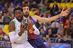 League ACB-ENDESA 2017/2018 - Game: 27.<br /> FC Barcelona Lassa vs Real Betis Energia Plus: 121-56.<br /> Oderah Anosike vs Pierre Oriola.
