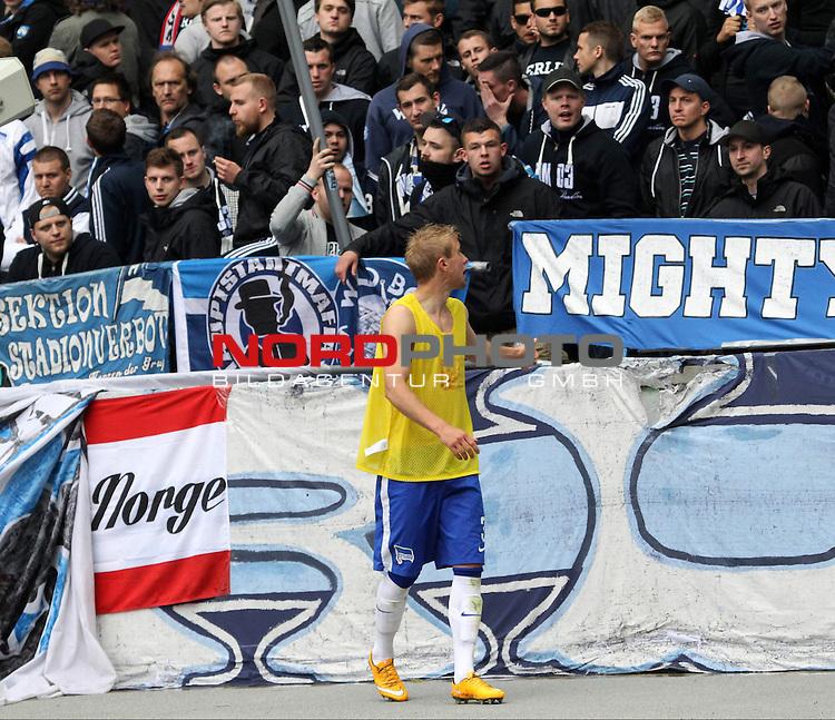 16.05.2015, OLympiastadion, Berlin, GER, 1.FBL, Hertha BSC vs. Eintracht Frankfurt, im Bild Per Skelbred (Hertha BSC Berlin)<br /> <br />               <br /> Foto &copy; nordphoto /  Engler