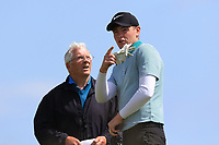 Noel Kelly and Robert Brazill (Naas) on the 10th tee during Round 4 of The East of Ireland Amateur Open Championship in Co. Louth Golf Club, Baltray on Monday 3rd June 2019.<br /> <br /> Picture:  Thos Caffrey / www.golffile.ie<br /> <br /> All photos usage must carry mandatory copyright credit (© Golffile | Thos Caffrey)
