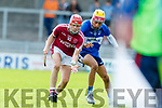 Keith Carmody Causeway in action against Seamus O'Halloran St Brendans during the Senior Kerry County Hurling Semi Finals between Causeway v Brendans at Austin Stack park on Saturday last.