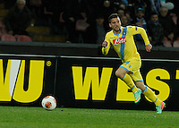 Dries Mertens <br /> <br />  UEFA Europa League round of 32 second  leg match, betweenAC  Napoli  and Swansea City   at San Paolo stadium in Naples, Feburary 27 , 2014