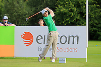 Gavin Moynihan (AM)(IRL) on the 10th tee during Round 2 of the Irish Open at Fota Island on Friday 20th June 2014.<br /> Picture:  Thos Caffrey / www.golffile.ie