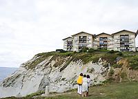Sopelana beach and the Sopelmar housing bloc just outside of Bilbao, Spain.