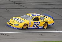 Oct. 3, 2009; Kansas City, KS, USA; NASCAR Nationwide Series driver Parker Kligerman (22) during the Kansas Lottery 300 at Kansas Speedway. Mandatory Credit: Mark J. Rebilas-