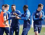 19.04.2019 Rangers training: Jermain Defoe and Glen Kamara
