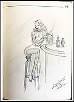 BNPS.co.uk (01202 558833)<br /> Pic:   LionHeartAutographs/BNPS<br /> <br /> The prisoners clearly missed female companionship as there are drawings of scantily clad pin up girls.<br /> <br /> A remarkable diary kept by a POW in the Great Escape camp which includes a tribute to the 50 men executed in its reprisals has come to light.<br /> <br /> British RAF officer Joseph Gueuffen, of 609 Squadron, was shot down during a bombing raid over Germany and held captive at Stalag Luft III from late 1943 until the end of the war.<br /> <br /> The Belgian born pilot was kept in Block 109, a barrack which played an integral part in the mass escape of prisoners on March 24, 1944.<br /> <br /> The diary boasts a list of the officers executed by the Nazis following their recapture and a drawing of the permanent memorial for them by Belgian RAF pilot Bobby Laumans.
