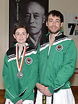 Cydney Sheridan silver medal winner with her instructor Karl Doyle. Photo:Colin Bell/pressphotos.ie