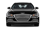 Car photography straight front view of a 2017 Genesis G80 4 Door Sedan Front View