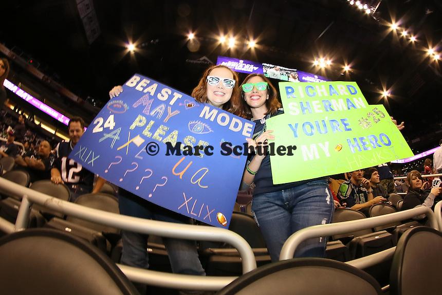 Fans der Seatlle Seahawks - Super Bowl XLIX Media Day, US Airways Center, Phoenix