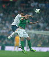29.05.2013 London, England. Jon Walters, Republic of Ireland, in action against Frank Lampard, England, during the International Friendly between England and Republic of Ireland from Wembley Stadium.
