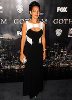 NEW YORK CITY, NY, USA - SEPTEMBER 15: Zabryna Guevara arrives at the New York Series Premiere Of 'Gotham' held at the New York Public Library on September 15, 2014 in New York City, New York, United States. (Photo by Celebrity Monitor)