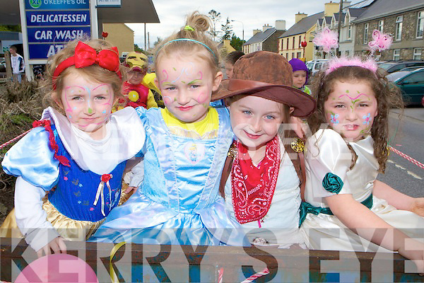 Ciara Hughes, Muireann, Emer Nagle and Laura Phelan Rathmore all dressed up for the fashion parade at Rathmore Fair on Sunday