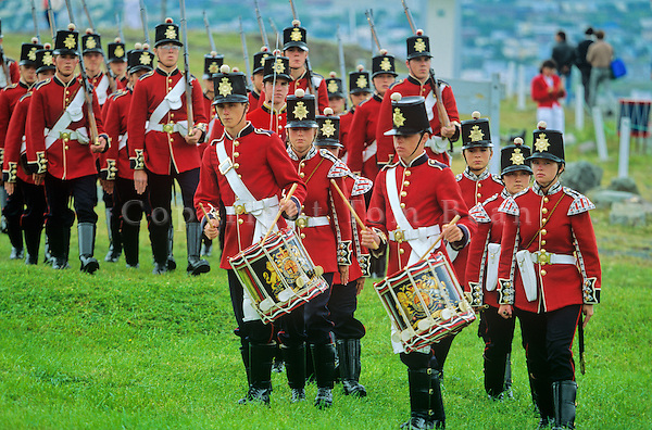 Reenactment of military drill by the Signal Hill Tattoo at St. Johns, Newfoundland, Canada, AGPix_0517..
