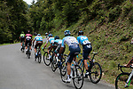 Euskadi Murias team riders chase down the two escapees only 50m ahead on the Port de Bales climb during Stage 3 of the Route d'Occitanie 2019, running 173km from Arreau to Luchon-Hospice de France, France. 22nd June 2019<br /> Picture: Colin Flockton | Cyclefile<br /> All photos usage must carry mandatory copyright credit (© Cyclefile | Colin Flockton)