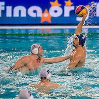 2 Francesco DI FULVIO ITA<br /> FINA Men's Water Polo Olympic Games Qualifications Tournament 2016<br /> quarter final<br /> Romania ROU (White) Vs Italy ITA (Blue)<br /> Trieste, Italy - Swimming Pool Bruno Bianchi<br /> Day 06  08-04-2016<br /> Photo G.Scala/Insidefoto/Deepbluemedia